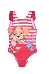 Swimsuit with stripes for girls Paw Patrol - Skye and fish.