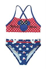 Colorful swimsuit with straps, two-piece, Disney Minnie Mouse.