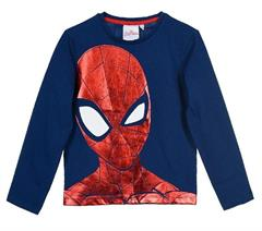 Package of 4 pieces. 98 cm - 128 cm. 1-1-1-1. Spider-Man Marvel navy blue blouse for long sleeves
