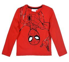 Package of 4 pieces. 98 cm - 128 cm. 1-1-1-1. Red long-sleeved blouse for boy Spider-Man Marvel