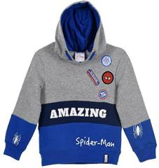 Package of 4 pieces. 98 cm - 128 cm. 1-1-1-1. Blue-gray boys hoodie Marvel Spider - Man