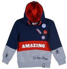 Package of 4 pieces. 98 cm - 128 cm. 1-1-1-1. Navy-gray sweatshirt for a boy Marvel Spider - Man