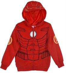 Package of 4 pieces. 104 cm - 140 cm. 1-1-1-1. Marvel Iron Man red boys hoodie