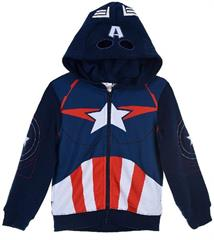 Package of 4 pieces. 104 cm - 140 cm. 1-1-1-1. Zipped sweatshirt for boy Marvel Iron Man navy blue